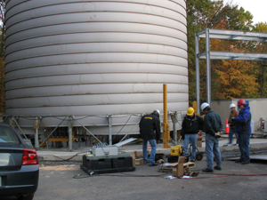 Custom Enerpac Sync Lift system to lift tank evenly as it was fabricated